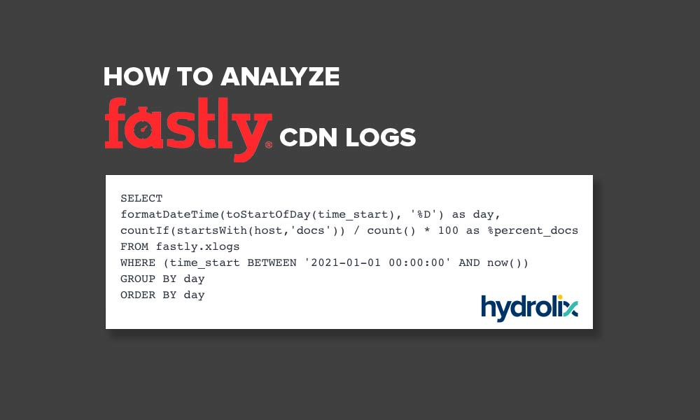 Analyzing Fastly CDN transaction logs with Hydrolix